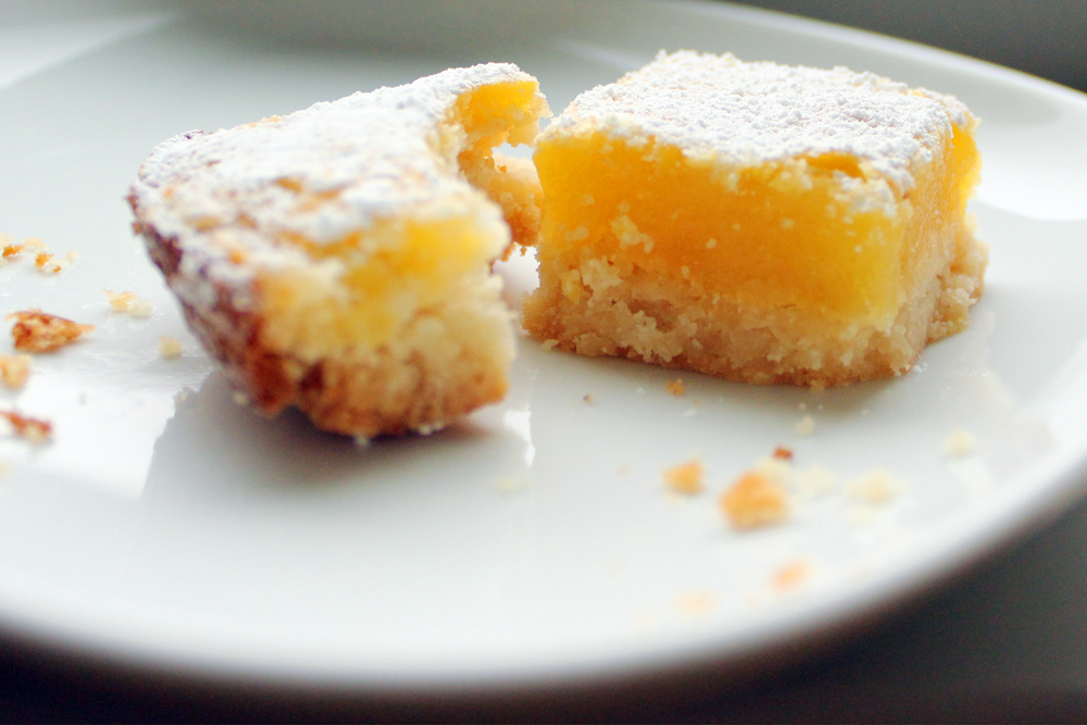 Luscious Meyer Lemon Bars - bites out of life