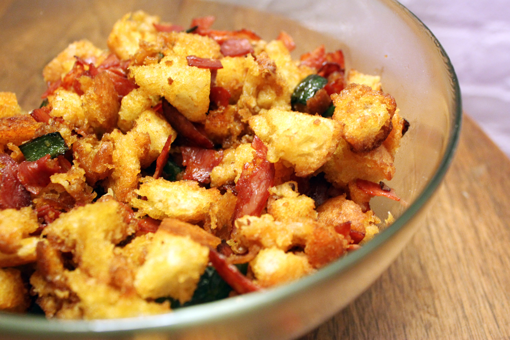 Spanish Migas - bites out of life
