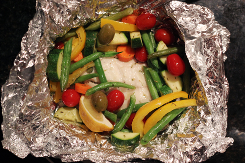 Tilapia and Summer Vegetable Packets recommend