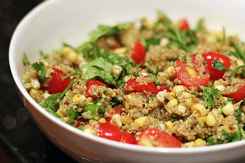 Summer Quinoa Salad, Mexican-Style - bites out of life