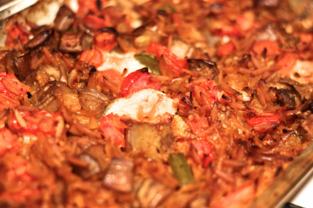 Baked Orzo with Eggplant and Mozzarella - bites out of life