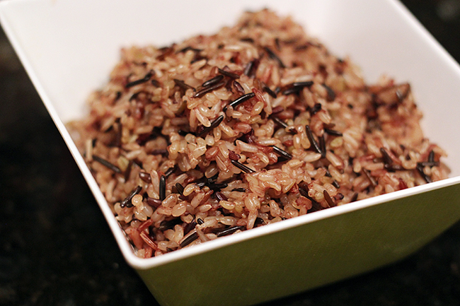 Wild Rice Salad with Brussels Sprouts - bites out of life