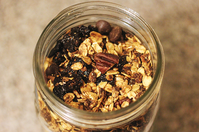 dark chocolate cherry granola 4