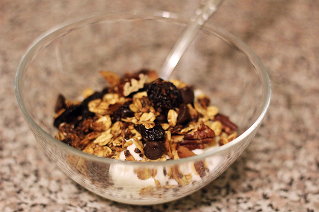 dark chocolate cherry granola 6