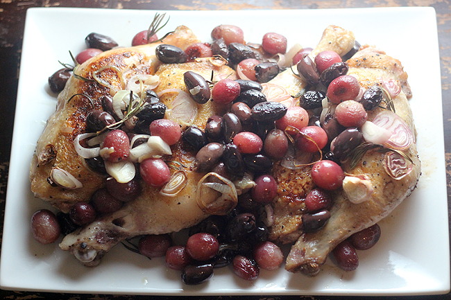 Harvest Roast Chicken with Grapes and Olives - bites out ...